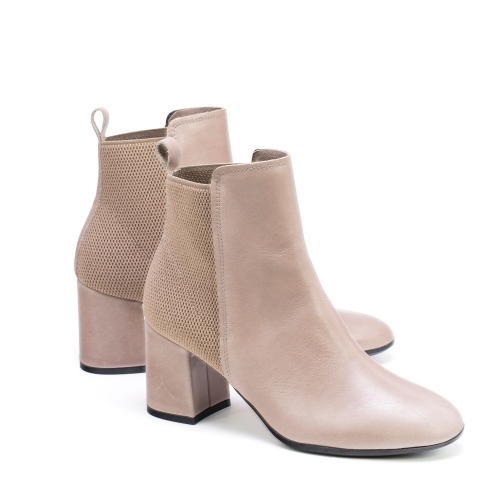botines de tacon taupe chantal