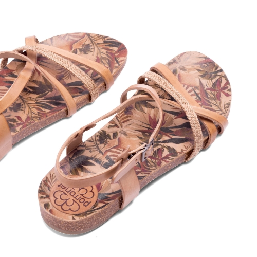 sandalias natural planta tropical bio dalia