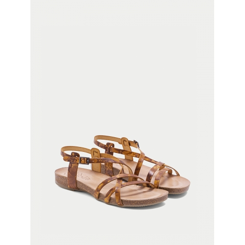 SANDALIAS MULTITIRAS COLOR MOSTAZA BROOKLYN